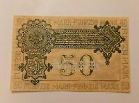 MITAU LATVIA JELGAVA NOTGELD 50 MARK 1919 EMERGENCY MONEY BANKNOTE (12442)