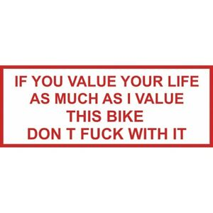 01 Hells Angels Support 81 sticker  IF YOU VALUE....