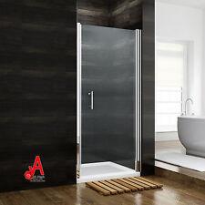 Frameless Shower Screen Enclosure Pivot Swing Door Wall to Wall Various Sizes 860mm