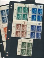 Lot Stamp Germany Poland 11 Blocks WWII General Government Hitler Sheet Tops MH