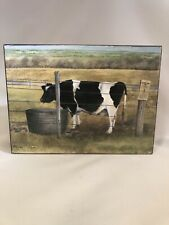 Farmhouse Decor Cow Painting On Wood Ruth Lorentzen Wall Hanging 5.75�x7.75�