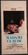 Locandina MADAME CLAUDE 1977 RARA! FRANCOISE FABIAN , MURRAY HEAD distr.CEIAD
