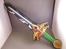 "Rare LEGO 20 1/2"" Foam Sword Green Jewel Gold Dragon Knight Cosplay Role Play"