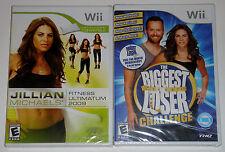 Nintendo Wii Game Lot - Jillian Michaels Fitness (New) Biggest Loser Challenge