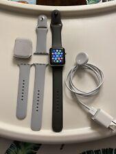 Apple Series 3 42mm - Silver Aluminum Case/ Light & Dark Gray Sport Bands