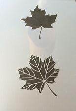 Maple Leaf Mylar Reusable Stencil Airbrush Painting Art Craft DIY home