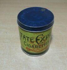Bote tabaco State Express Cigarrettes 555, box tobacco aluminio, vacía.