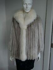 Saga blue/shadow fox real  fur coat sz 8 M
