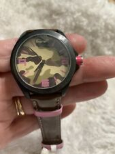 ELEVEN ELEVEN PINK BROWN CAMO Watch NEW NEEDS BATTERY NWT