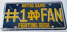 Notre Dame Fighting Irish #1 Fan NCAA Embossed Metal License Plate Tag Car Truck