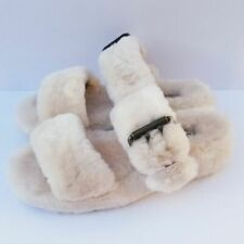 Ugg Fuzz Yeah Slip On Slippers Size 7 Beige