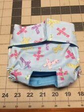 Blue Easter Cross Dog Diaper Panty Adjust Elastic Carols Crate Covers