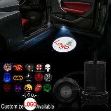 2x Car Door Customize Your Logo LED Welcome Laser Projector Ghost Shadow Light