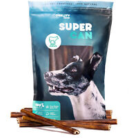 12-inch Prime Odor Free Bully Sticks (8 Pack) Natural Angus Beef Chews for Dogs
