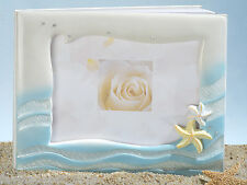 Starfish Beach Theme Wedding Guest Book and Pen Set
