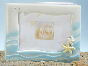 starfish beach theme wedding guest book  or for any beach themed event