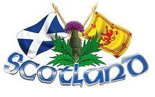 xxLarge Size Scotland Thistle & Cross Flags 4X4 Truck Van boat bonnet Sticker
