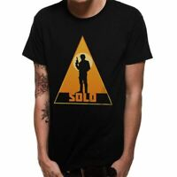 Mens Star Wars Han Solo Movie Retro Triangle Silhouette Printed T-Shirt - Unisex