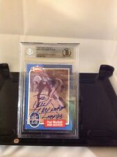 HOF Football Paul Warfield Autographed Card Beckett Encapsulated Authenticated