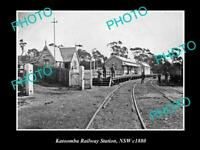 OLD 8x6 HISTORIC PHOTO OF KATOOMBA NSW VIEW OF THE RAILWAY STATION c1880