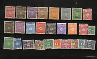 27 timbres taxe côte française des Somalis dont France Libre
