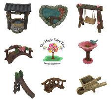 Fairy Garden Accessories: slide swing wishing well bird bath wheelbarrow bridge