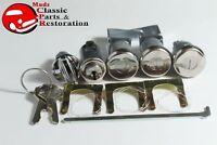 60 Chevy Lock Kit Ignition Glove Trunk Long Door Cylinders OEM Octagon Head Keys