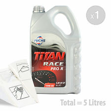 Car Engine Oil Service Kit / Pack 5 LITRES Fuchs Titan Race Pro R 10W-40 5L