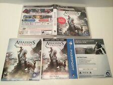 ps3 assassins creed III case & Inserts only NO GAME GameStop Edition