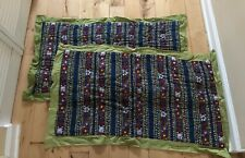 Anthropologie Wildfield Set Of King Pillow Shams 100% Cotton Multicolor