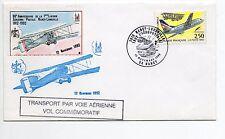 FRANCE Vol NANCY LUNEVILLE Aviation 80éme anniversaire 1992 Env. VOL VIGNETTE