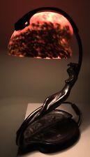 Art Deco Nouveau Shell Nautilus Nymph Figural Nude Lamp