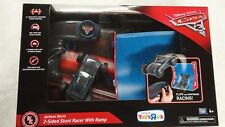DISNEY PIXAR CARS - JACKSON STORM 2 SIDED STUNT RACER WITH RAMP