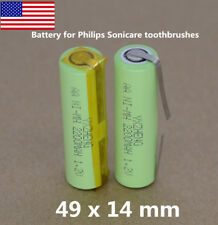 2pcs Philips Sonicare toothbrushes Battery 1.2V AA 2200mAh Ni-MH tabs 49x 14mm