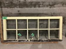 c1920 Antique Vintage Craftsman Wood Window Sash /w Glass 39x17 (D)