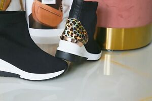 Womens Wedge Sock Trainers Sneakers Ankle Comfy Pull On Pumps Shoes size uk
