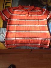 polo orange raye garçon 10 ans