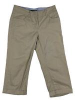 ✨⭐️Tommy Hilfiger Womans Capri Cropped Pants Size 2 Khaki⭐️✨