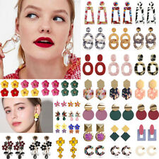 Fashion Womens Acrylic Geometric Dangle Drop Statement Ear Stud Earrings Jewelry