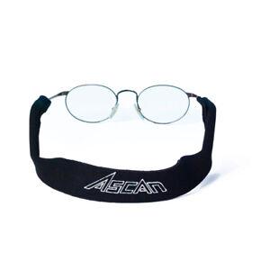 Ascan Brillenband Neoprenbrillenband Sportband Neoprenband Brille schwarz