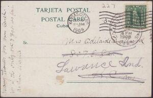 U.S., POSSESSIONS, 1908. Post Card 233, Columbia - Kansas City