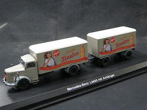 """Schuco Mercedes-Benz L6600 mit Anhänger 1:43 """"Sinalco"""" (JS)"""