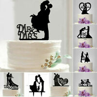 Acrylic Bride Groom Cake Topper Wedding  Party Favors Decoration Supplies 1pcs
