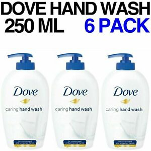 DOVE CARING HAND WASH FOR MOISTURISED AND PROTECTED HANDS 6 PACK 250ML