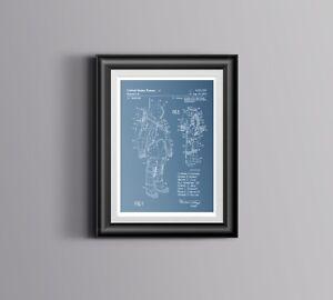 NASA Blueprints/ Space Suit US Patent Print Apollo Reproduction Art Poster A3