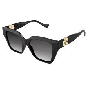 Occhiali da Sole Gucci GG1023S 001 54-17-140 Donna black lenti grey gradient