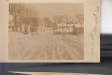 Real Photo Postcard Main Street in Winter Searsport ME