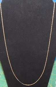 Luxury Women 18K Gold Plated Filled Cuban Link Chain Necklace 30''