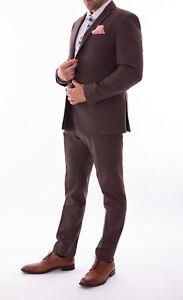 Men's Slim Fit Suit Pierre Cardin 1950's Vintage Style 2 Piece
