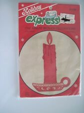 """New listing Dritz Holiday Expressions """"Candle"""" One Minute Iron On Decoration Size 7"""" x 5"""""""